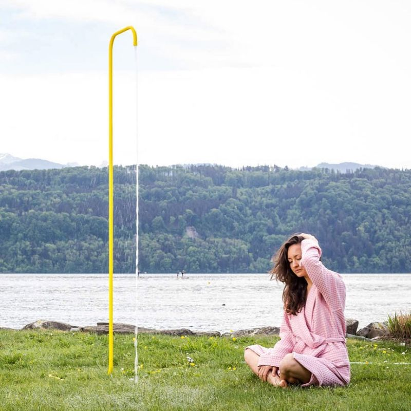 Garden Shower by Tarantik & Egger is a Simple Solution to Outdoor Showers