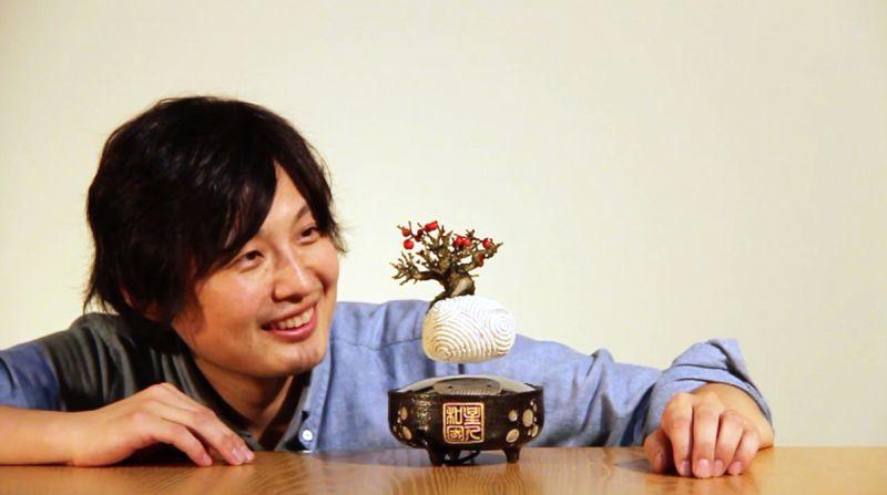 Hoshinchu Air Bonsai levitating planter from ARITA Series