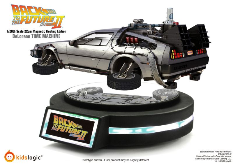 Levitating DeLorean Time Machine by Kids Logic