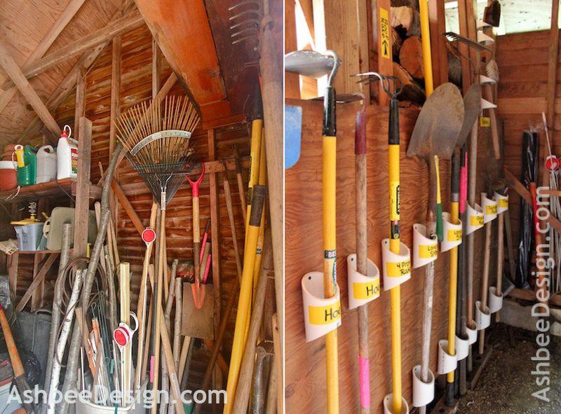 PVC Garden Tool Rack