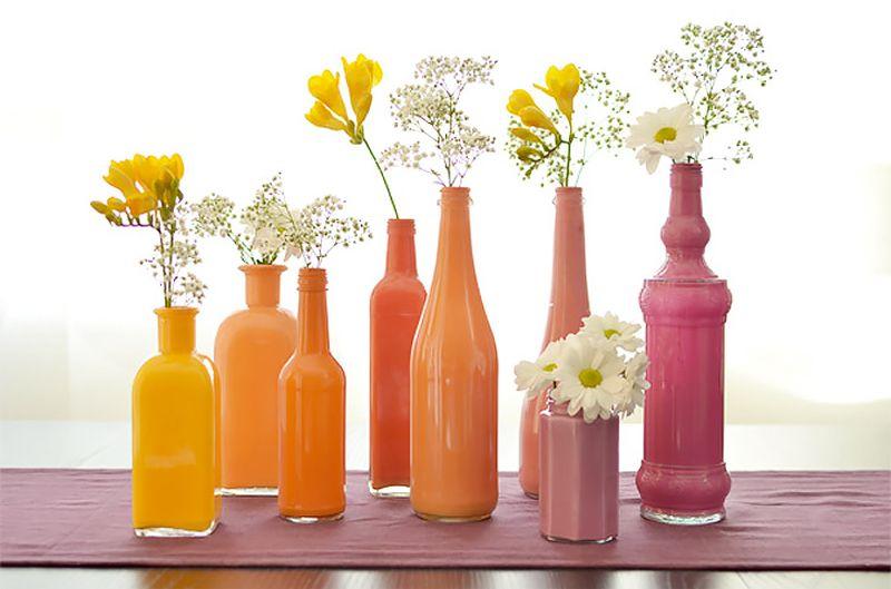 Painted DIY Wine Bottle Crafts