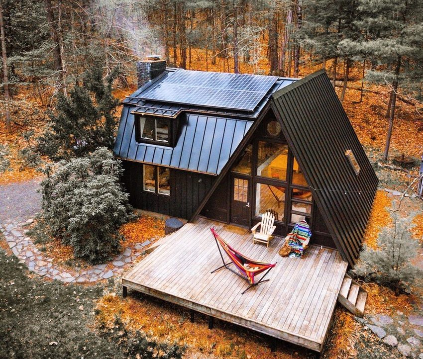 A-Frame Vacation Cabin in Catskills