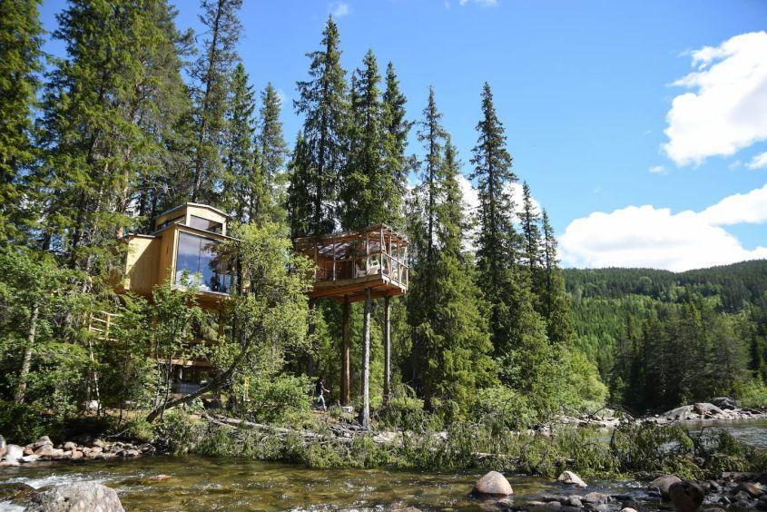 River Eye Treehouse in Norway is Ideal Weekend Getaway for Large Families - Airbnb Rental