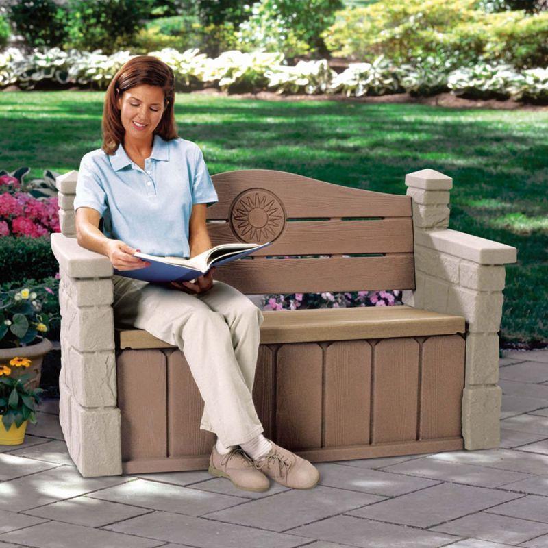 Step 2 outdoor storage bench