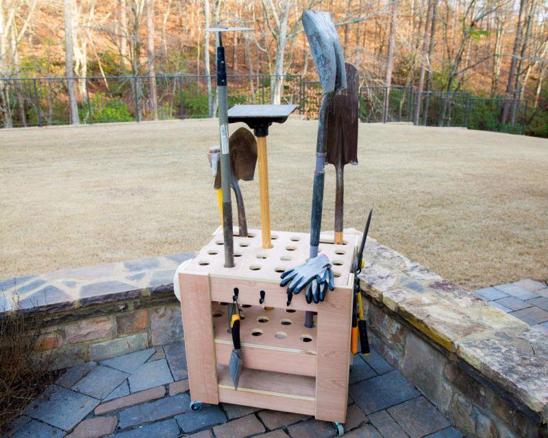 Storage Cart for Garden Tools