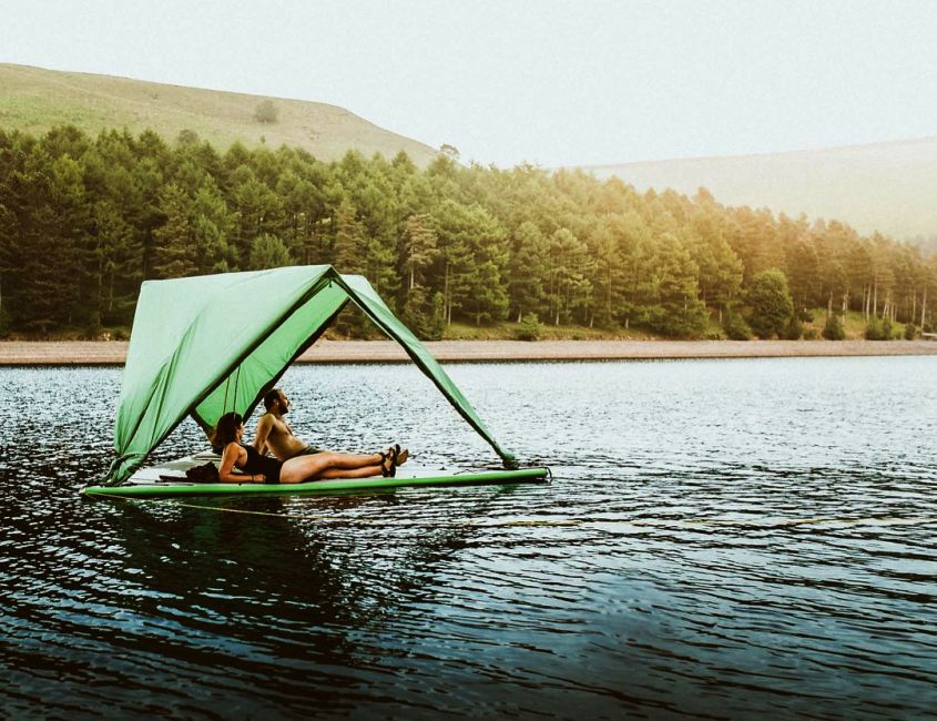 Tentsile Universe Camping Tent Pops Up On Land Tree And Water