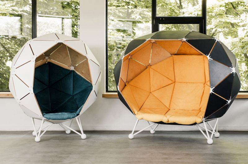 The Planet for Two by MZPA Offers Privacy and Comfort in Offices