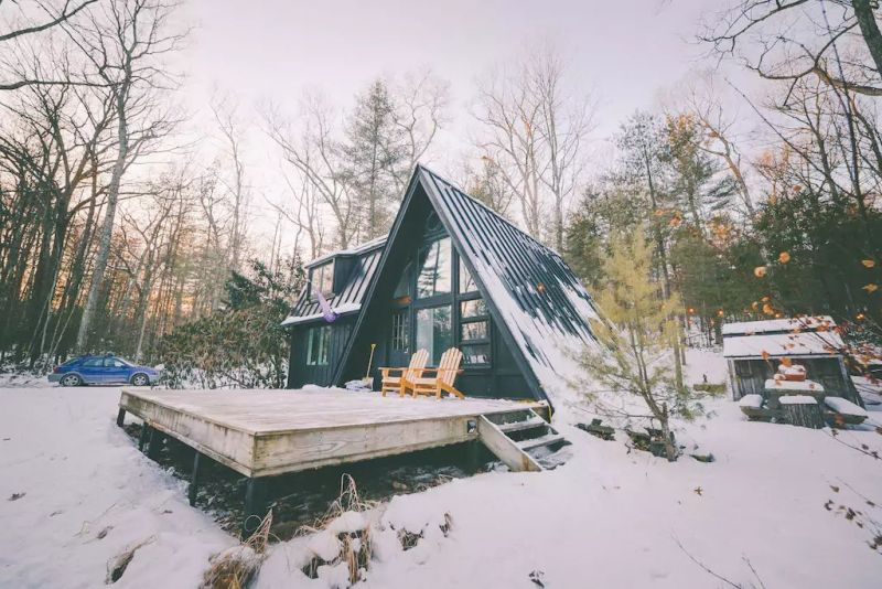 Rent This A-Frame Vacation Cabin in Catskills for $240/Night