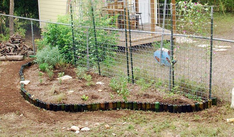 Wine Bottles Garden Edging