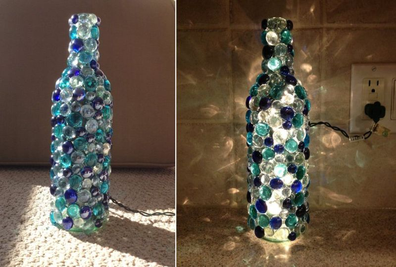 Old Wine bottle lampshade