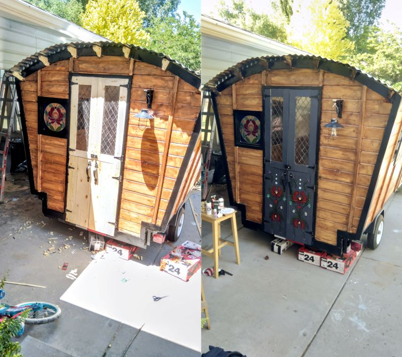 Woman Builds DIY Gypsy Wagon on Her Own & Woman Builds Gypsy Wagon on Her Own