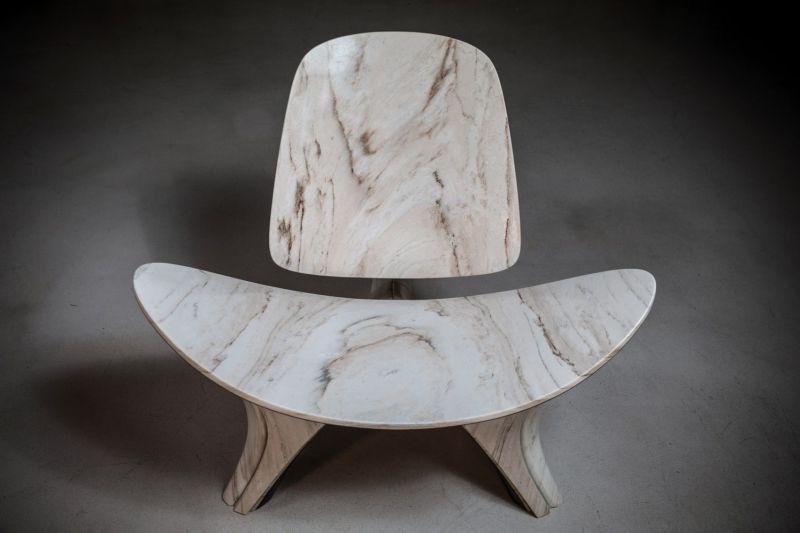 Zaha Hadid Architects Recreates Hans J Wegner's CH07 Shell Chair in Marble