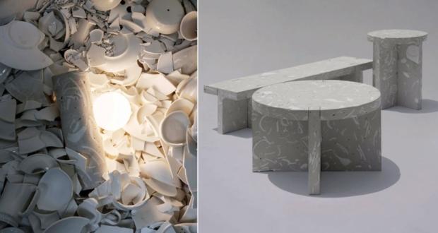 Bentu Design Furniture Made From Wasted Ceramics