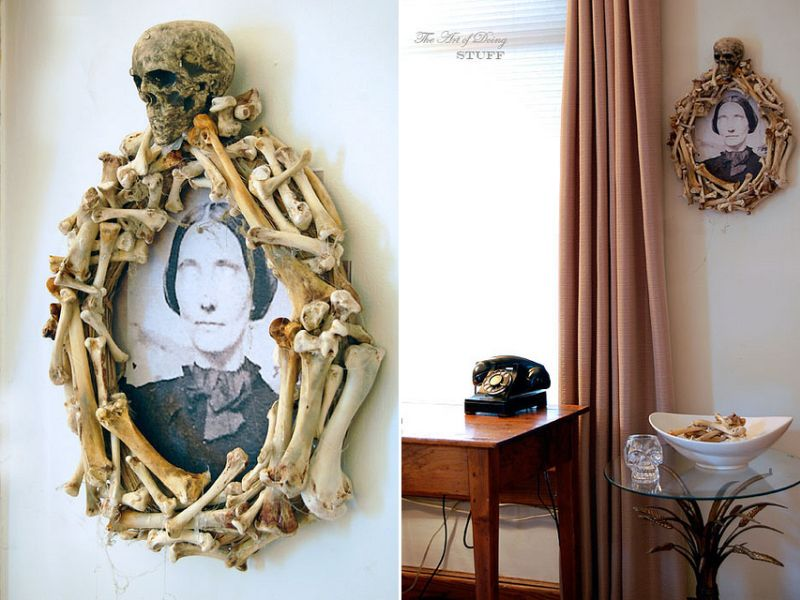 Bone Halloween wreath