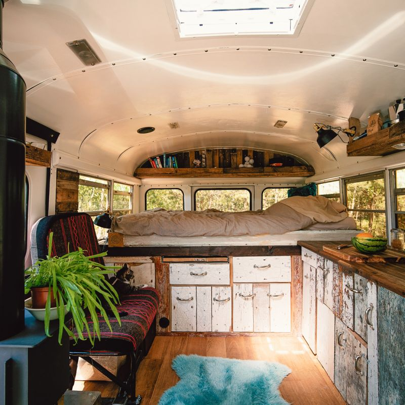 Couple Converts 1993 GMC School Bus into Tiny House