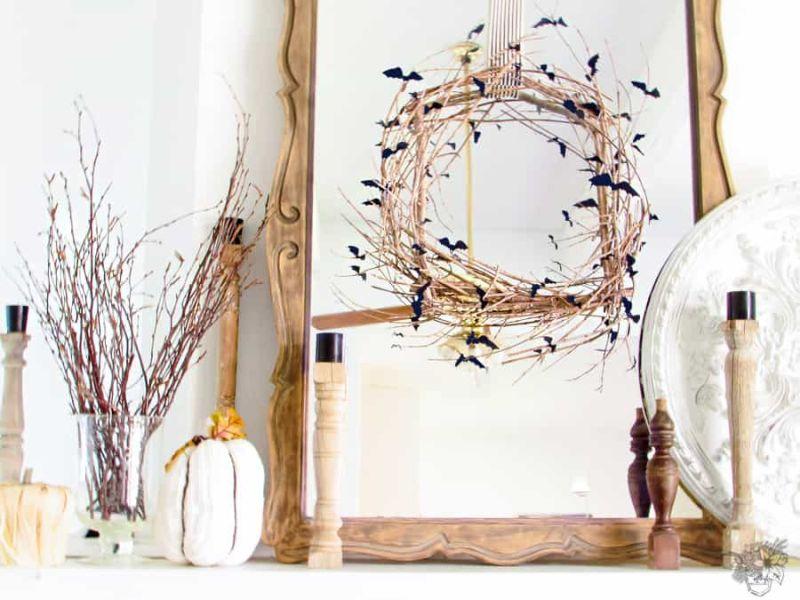 Creepy Twig Halloween Wreath