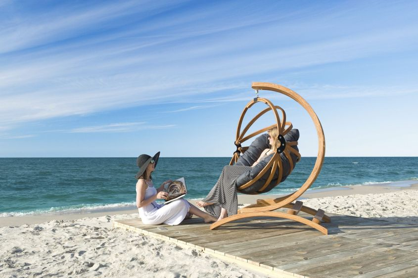 EcoCurves' Gaya Hanging Chair for Public Spaces