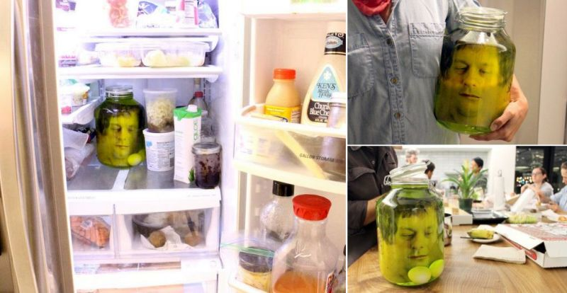 Head in a jar Halloween prank - Halloween Decoration Ideas