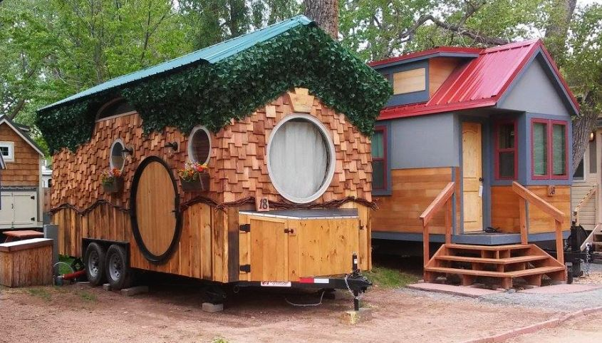 Hobbit Tiny House on Wheels at WeeCasa Resort in Colorado