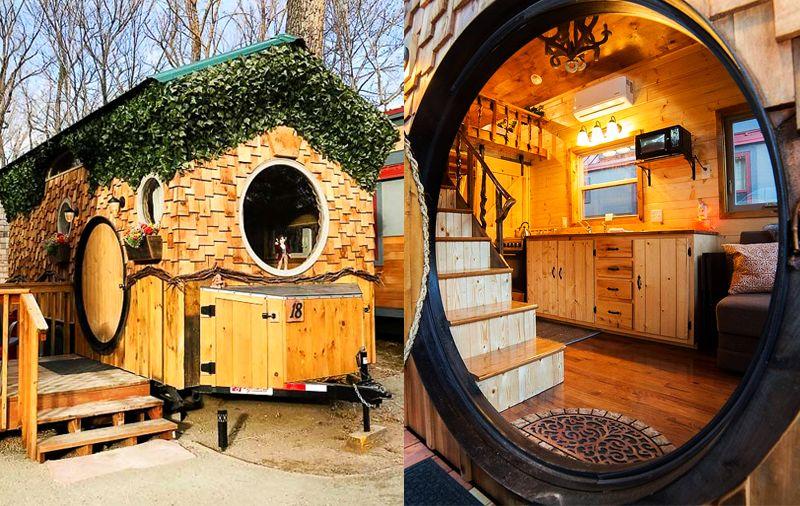 Hobbit Tiny House on Wheels at WeeCasa Resort in Colorado