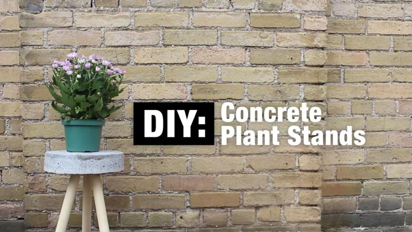 DIY Concrete Planter Stand You can Make in a Day