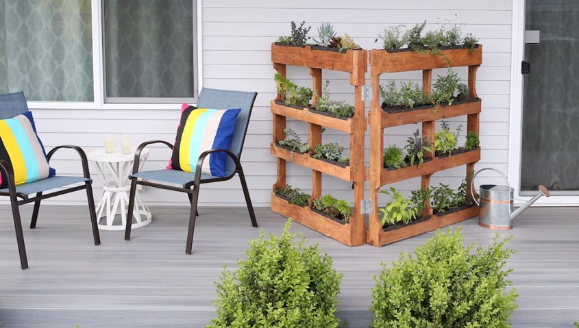 Merveilleux DIY Vertical Pallet Garden
