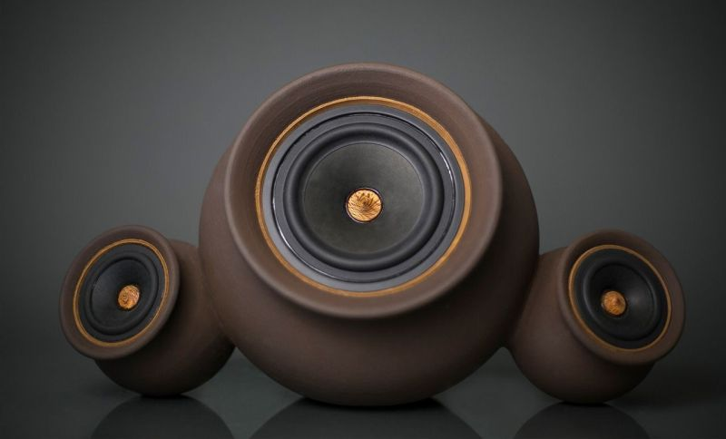Mapuguaquén Clay Speakers by Documentary Design