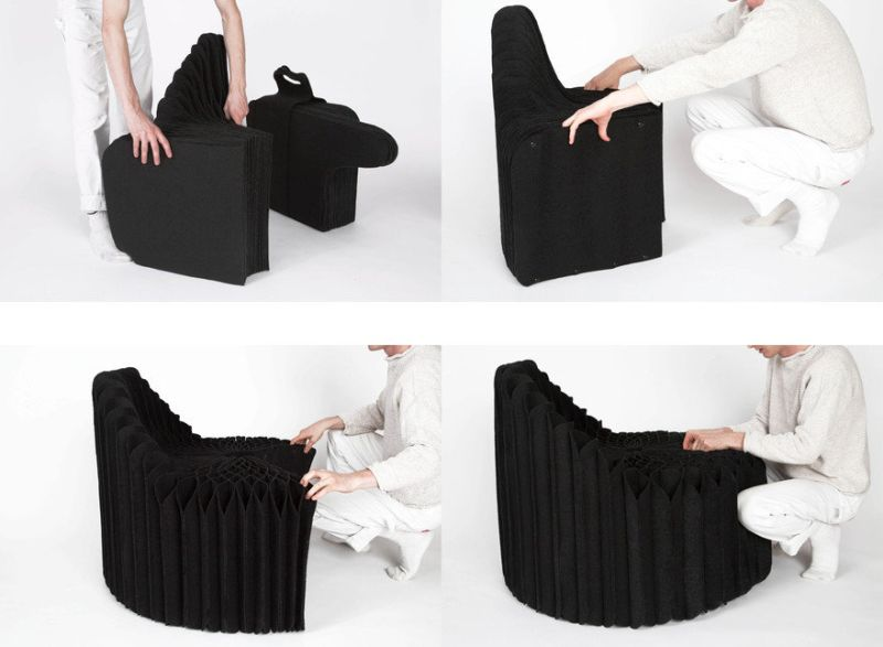Mobel Chair Folds into a Suitcase for Easy Transportation