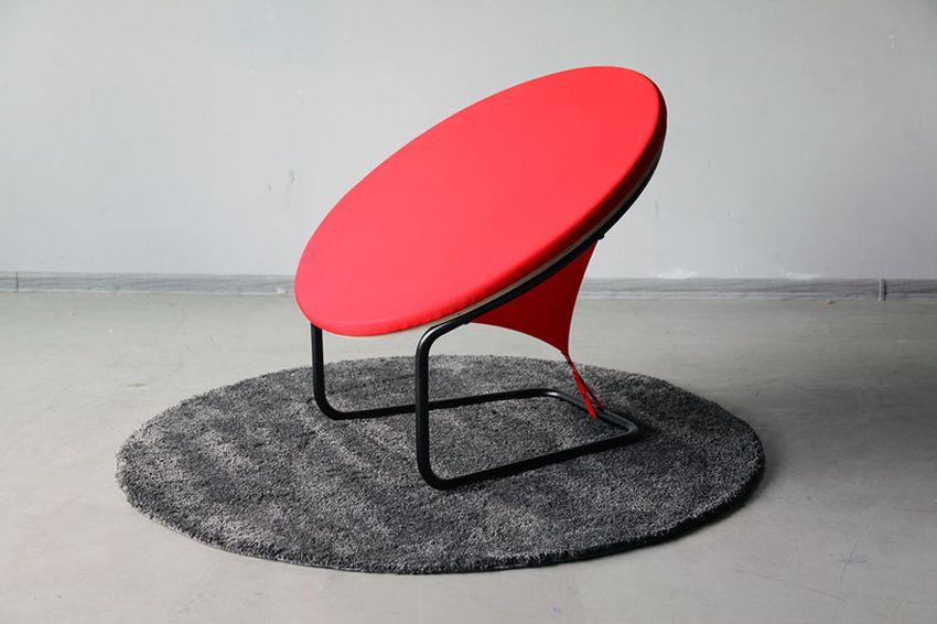 Red Dot Armchair by Gaudute Zilyte