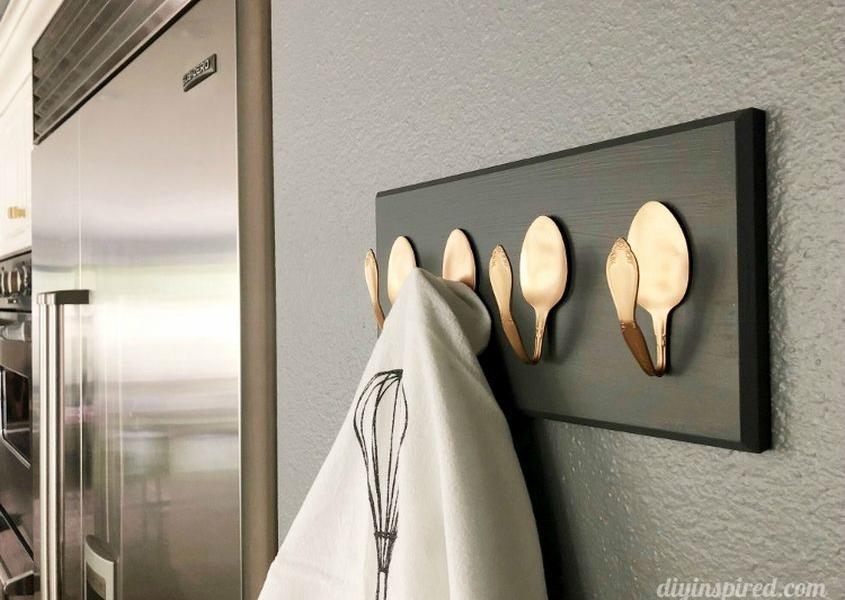 Repurposing Metal Spoons into Coat Rack