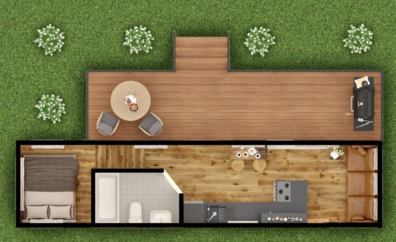 Tiny Heirloom Goose Tiny House on Wheels Sleeps a Family of Six