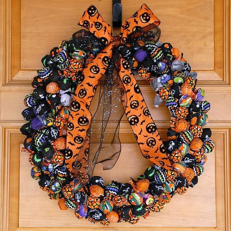 Trick-or-Treat Halloween Wreath