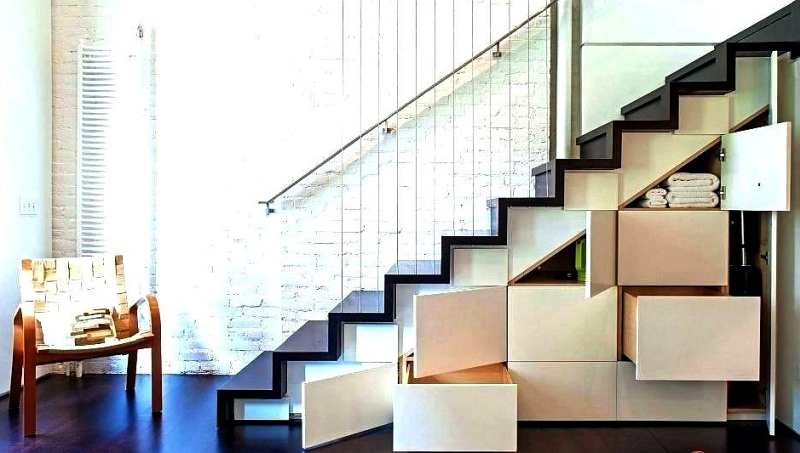 Under-Stair Drawers, under stair storage