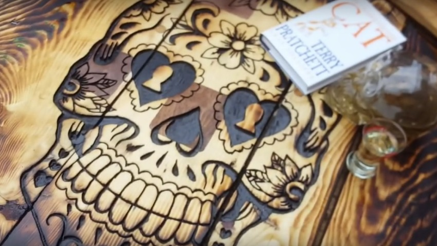 DIY Sugar Skull Table for Halloween
