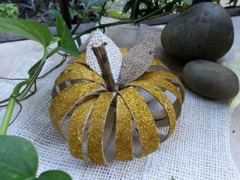 DIY Toilet Paper Roll Pumpkin Ideas