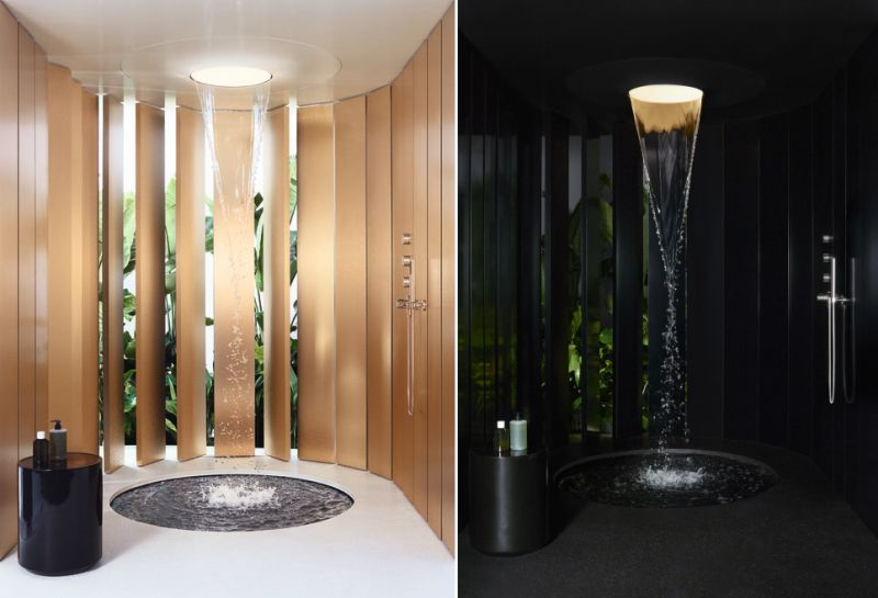 Dornbracht's Aquamoon Shower with Waterfall Effects