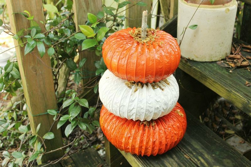 DIY Dryer Vent Pumpkin