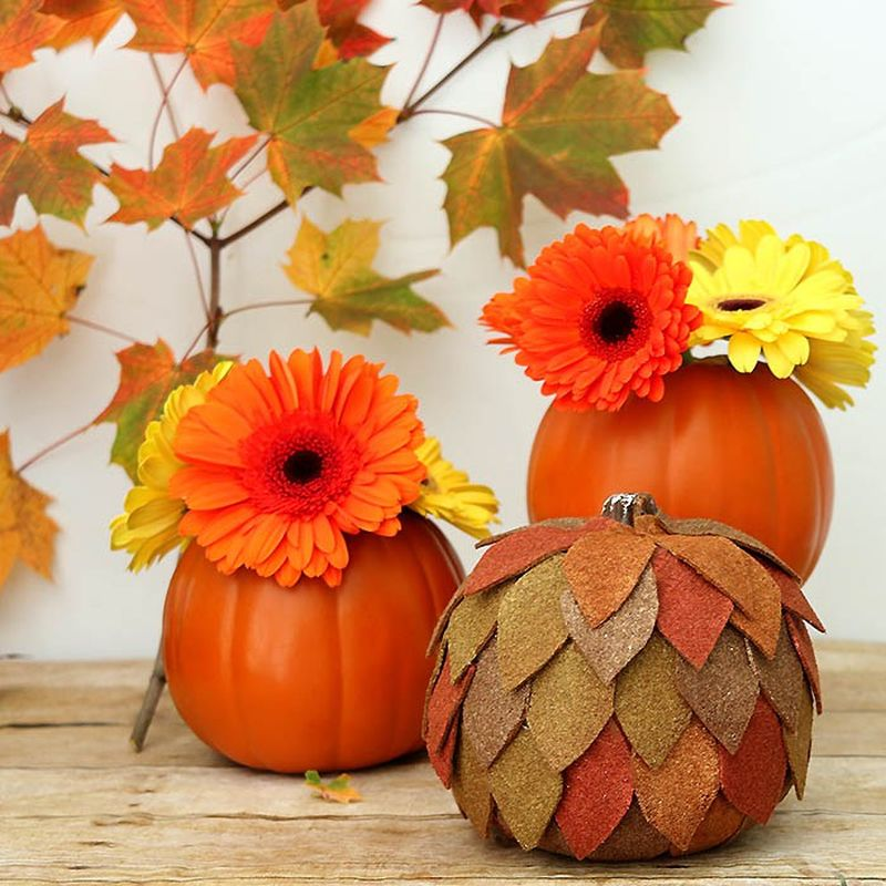 DIY felt pumpkin
