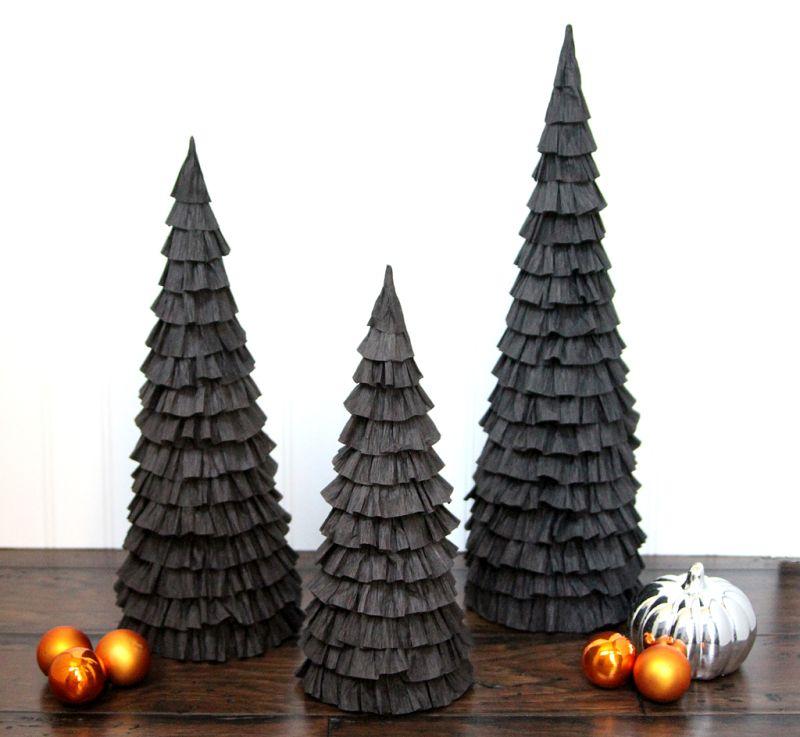 Halloween Mantle Trees