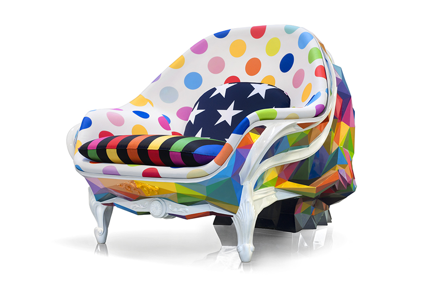 Harow Skull Armchair by Okuda San Miguel - Unique Chair design