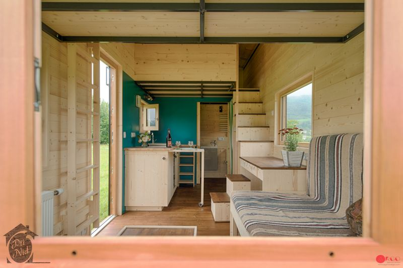 Optinid's Cécile Tiny House with Retractable Roof