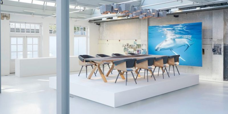 Plastic Whale Fishes Ocean Waste to Create Office Furniture