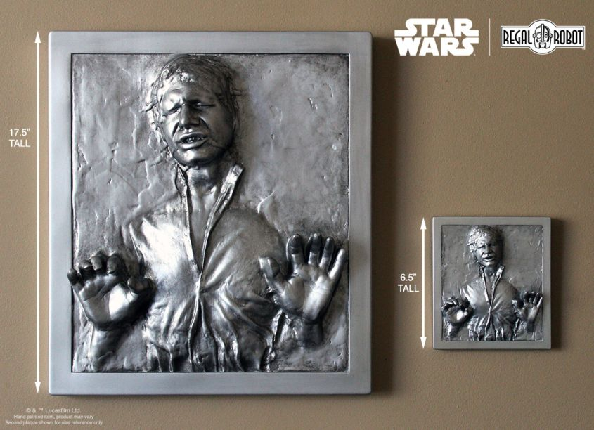 Regal Robot Introduces Star Wars-inspired Han Solo Carbonite Wall Plaques