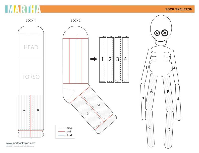 Sock Skeleton Doll
