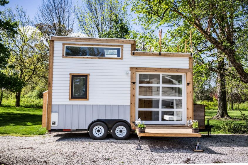 tad homes tiny house on wheels with garage door - Garage Homes