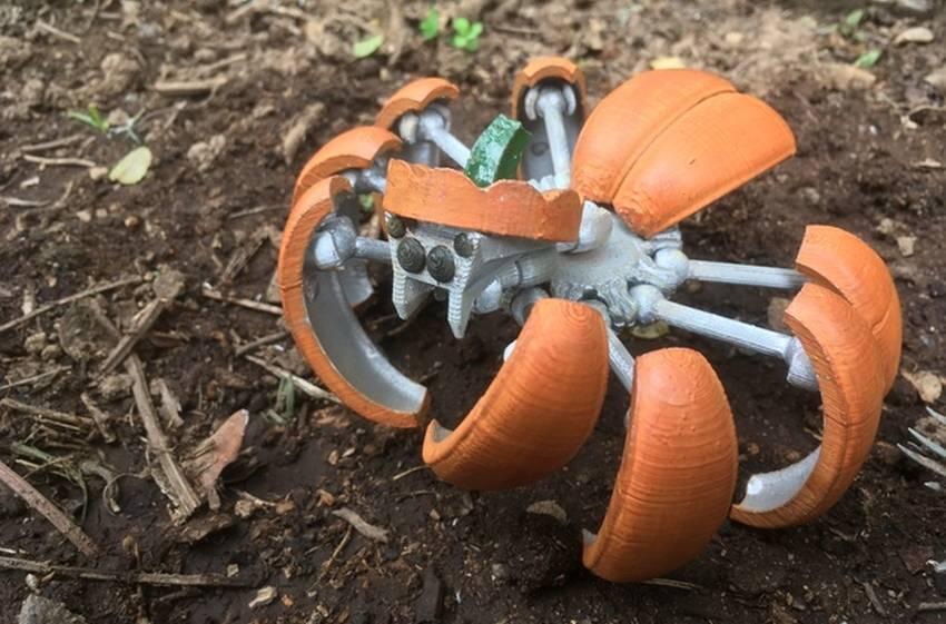 3D printed Halloween Pumpkin Spider Transformer-1