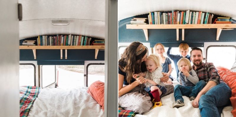A Family of Six Travelling Full-Time in their Converted Bus Home