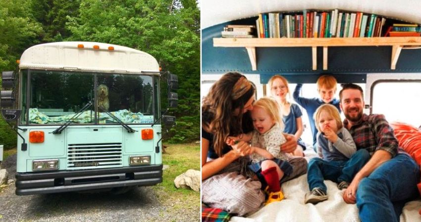 A Family of Six Travelling Full-Time in their Converted Bus Home_17