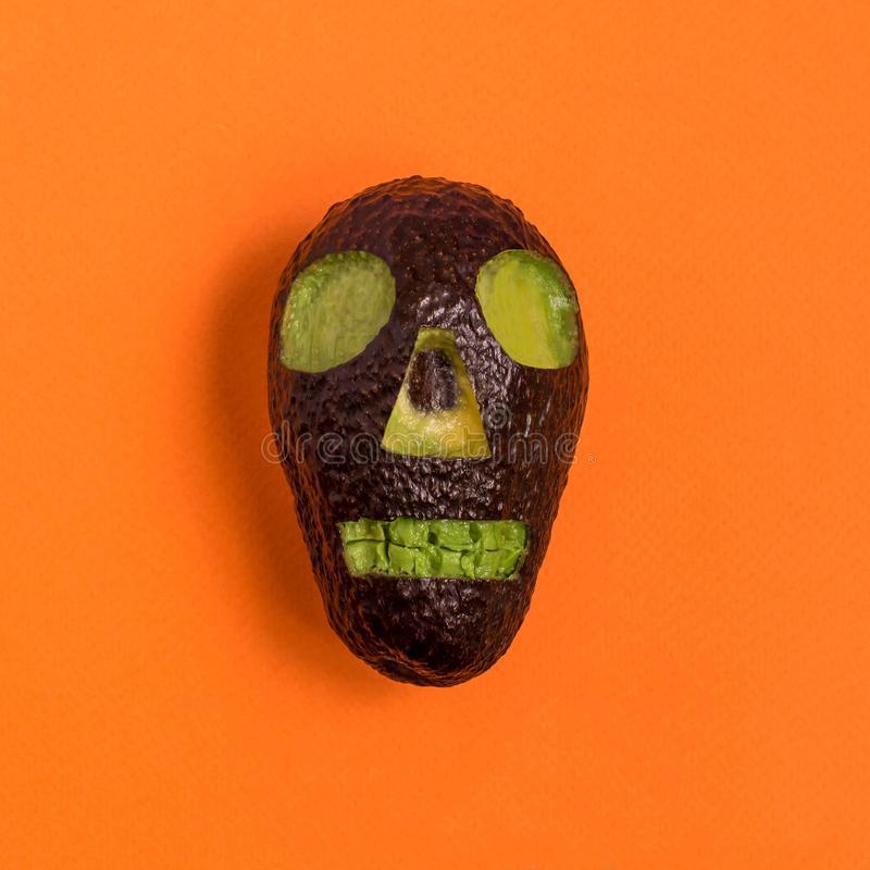 Avacado carving for Halloween