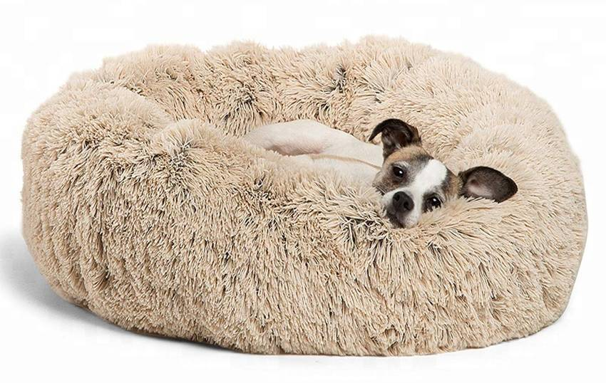Best Friends by Sheri Fur Donut Dog Bed